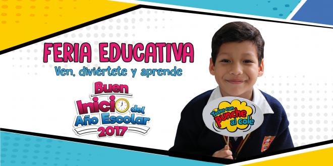 """No te pierdas esta I Feria Educativa """"Todos con punche al"""